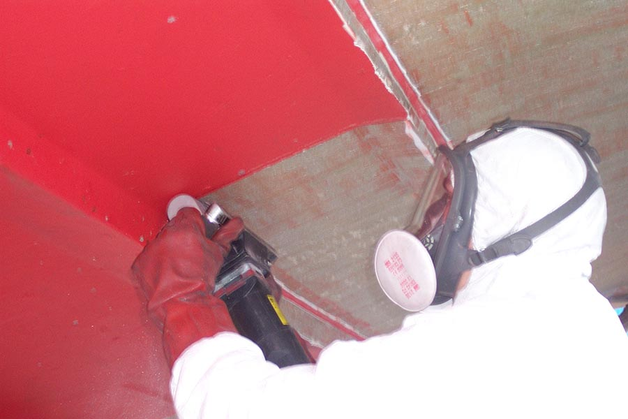 Osmosis treatment - shows a hull being peeled